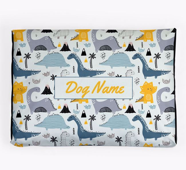 Personalised 'Dinosaur Pattern' Dog Bed for your Bernese Mountain Dog