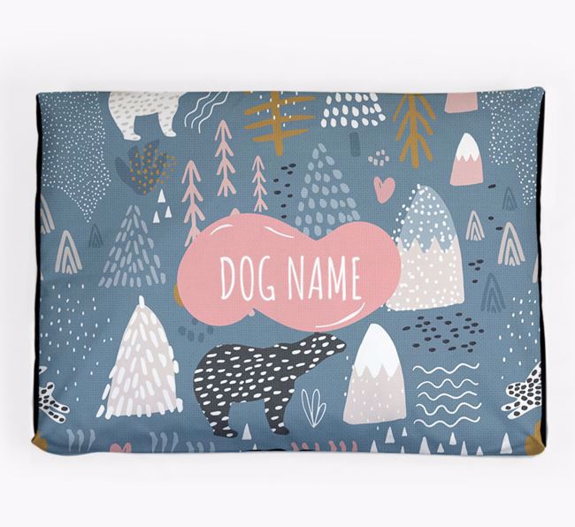 Personalised 'Nordic Pattern' Dog Bed for your Bernese Mountain Dog