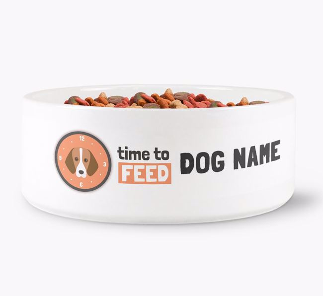 'Time to feed Your Dog' Dog Bowl