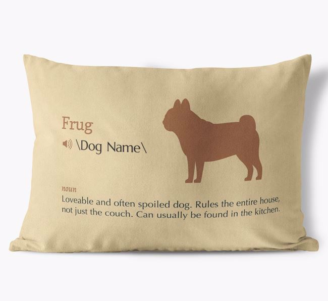 Personalized Frug Definition Faux Suede Pillow