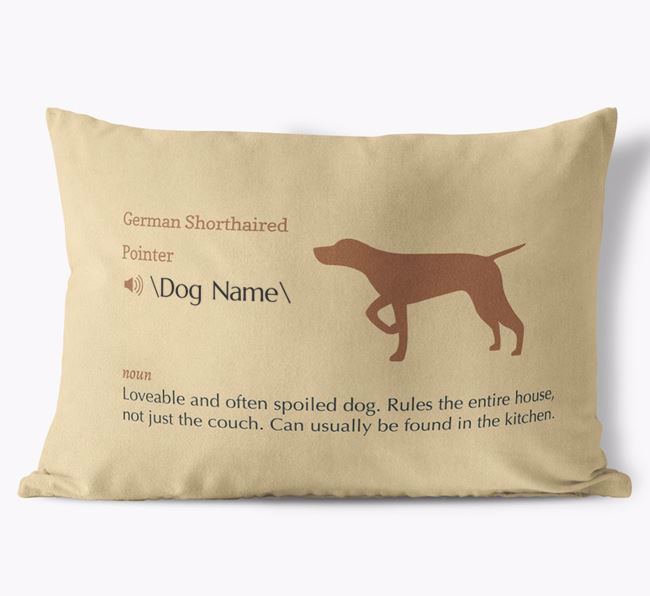 Personalized German Shorthaired Pointer Definition Faux Suede Pillow