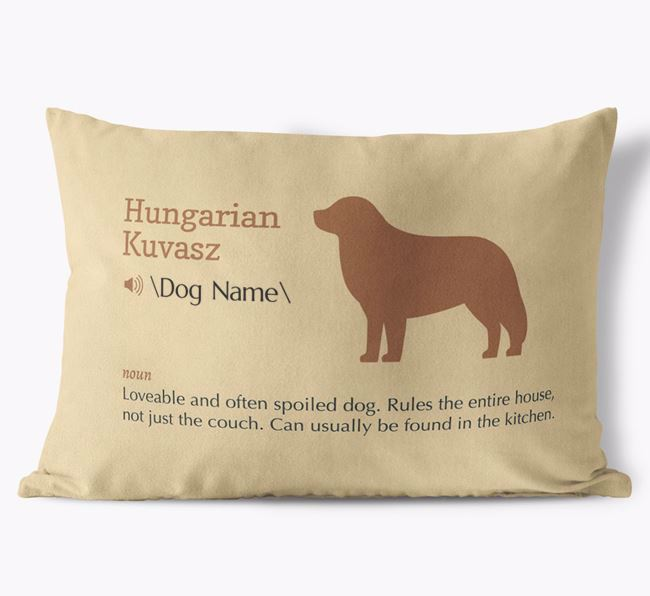 Personalized Hungarian Kuvasz Definition Faux Suede Pillow