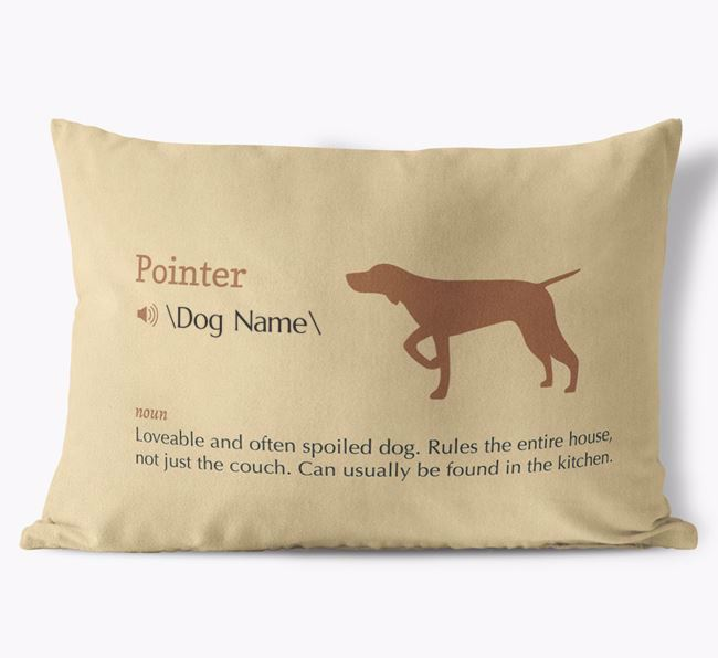 Personalized Pointer Definition Faux Suede Pillow