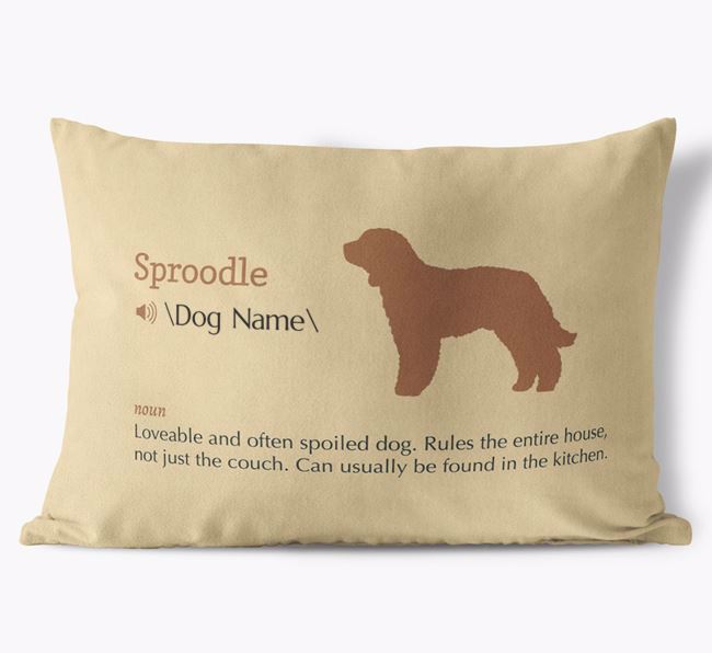 Personalized Sproodle Definition Faux Suede Pillow