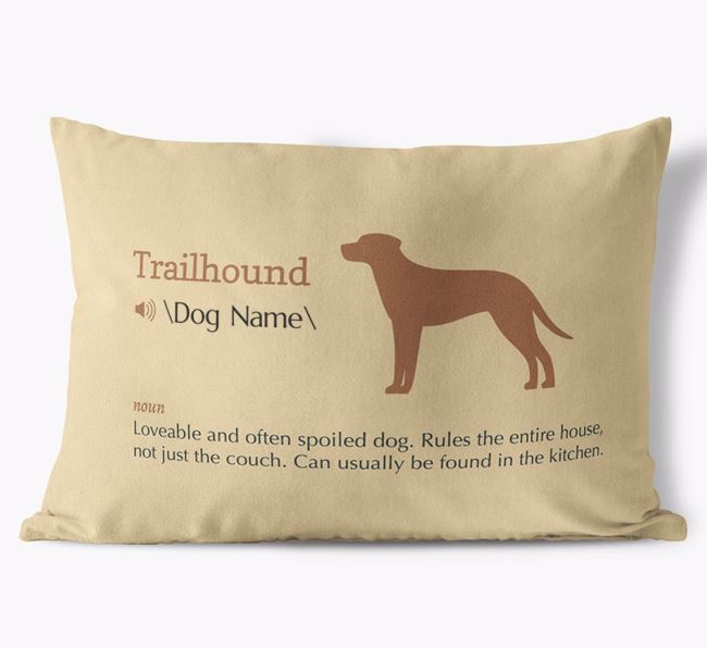Personalized Trailhound Definition Faux Suede Pillow