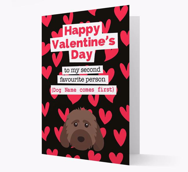 'To my Second Favourite Person' Card with your Cockapoo Icon