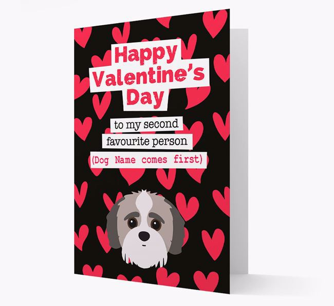 'To my Second Favourite Person' Card with your Jack-A-Poo Icon