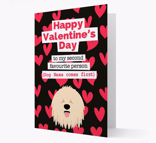 'To my Second Favourite Person' Card with your Komondor Icon