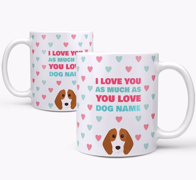 Personalised Beagle 'I Love You As Much As You Love Your Dog' Mug