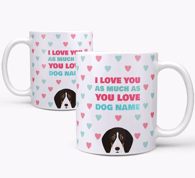 Personalised English Coonhound 'I Love You As Much As You Love Your Dog' Mug