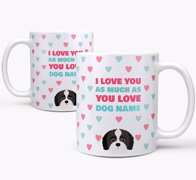 Personalised Jack-A-Poo 'I Love You As Much As You Love Your Dog' Mug