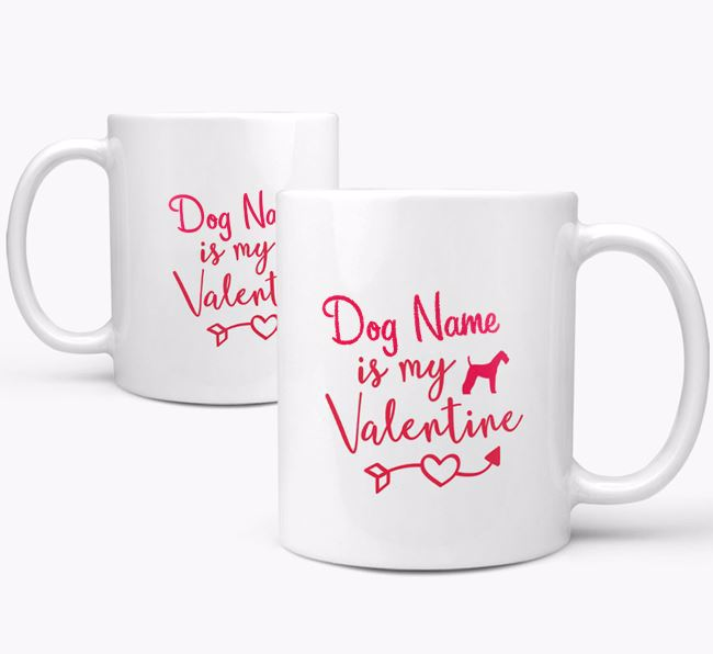 Personalised Airedale Terrier 'Your Dog is my Valentine' Mug