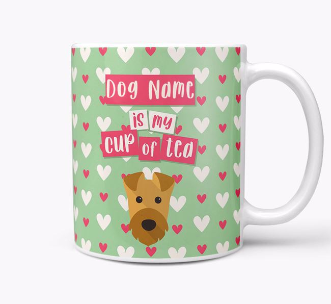 Personalised Airedale Terrier 'Your Dog is my Cup of Tea' Mug
