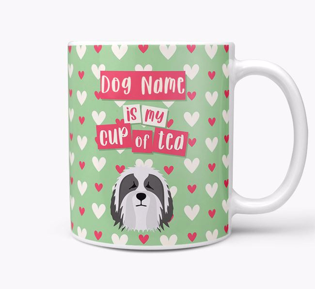 Personalised Bearded Collie 'Your Dog is my Cup of Tea' Mug