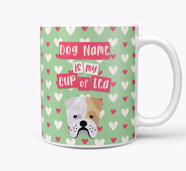 Personalised Bull Pei 'Your Dog is my Cup of Tea' Mug