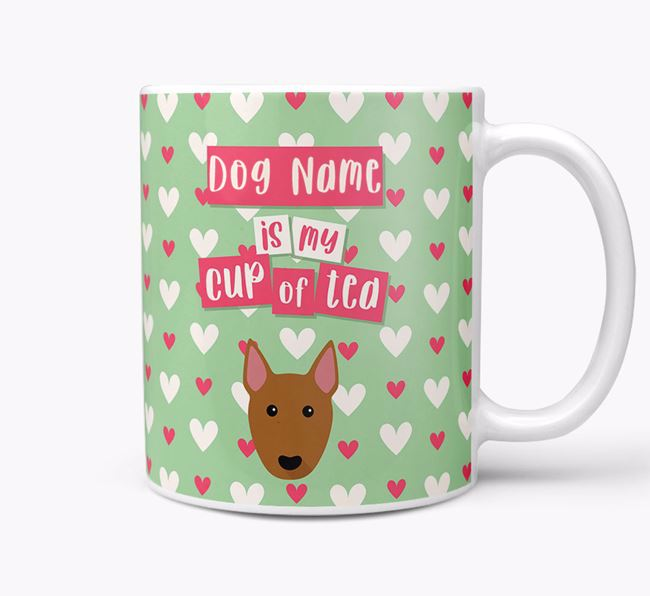 Personalised Bull Terrier 'Your Dog is my Cup of Tea' Mug
