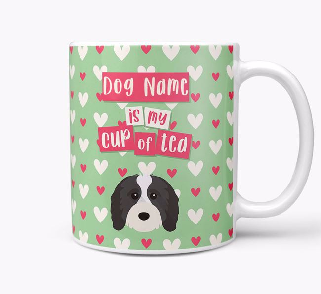 Personalised Cavapoo 'Your Dog is my Cup of Tea' Mug