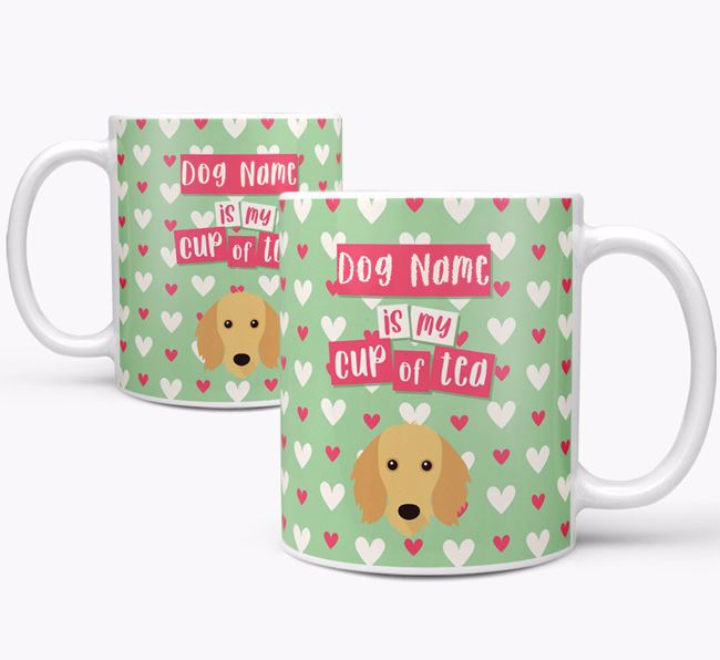 Personalised Dachshund 'Your Dog is my Cup of Tea' Mug