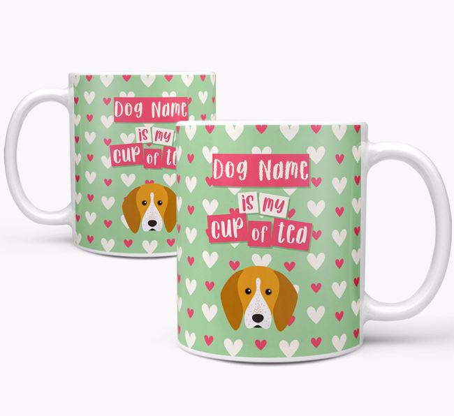 Personalised English Coonhound 'Your Dog is my Cup of Tea' Mug