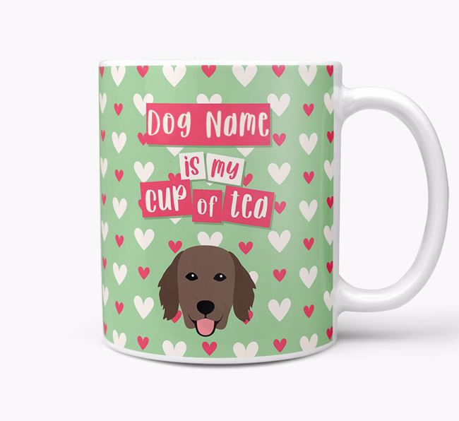 Personalised Flat-Coated Retriever 'Your Dog is my Cup of Tea' Mug