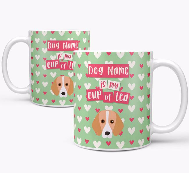 Personalised Foxhound 'Your Dog is my Cup of Tea' Mug