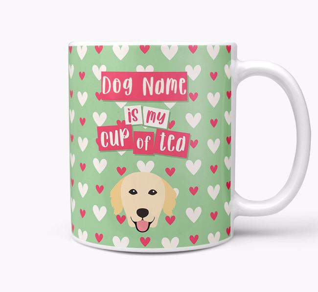 Personalised Golden Retriever 'Your Dog is my Cup of Tea' Mug