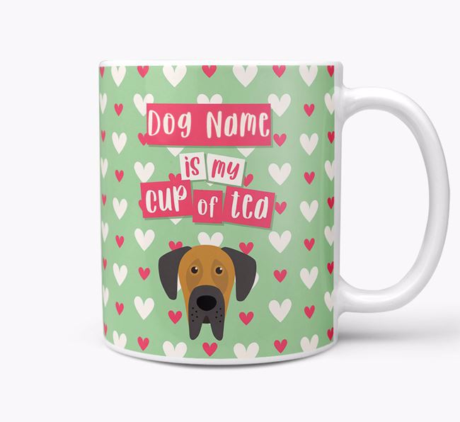 Personalised Dog 'Your Dog is my Cup of Tea' Mug