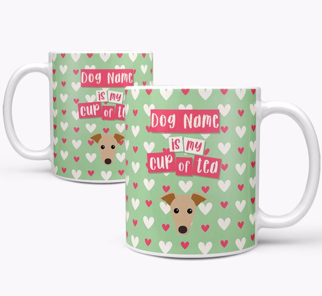 Personalised Greyhound 'Your Dog is my Cup of Tea' Mug
