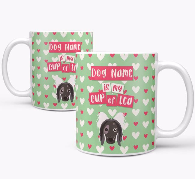 Personalised Hairless Chinese Crested 'Your Dog is my Cup of Tea' Mug