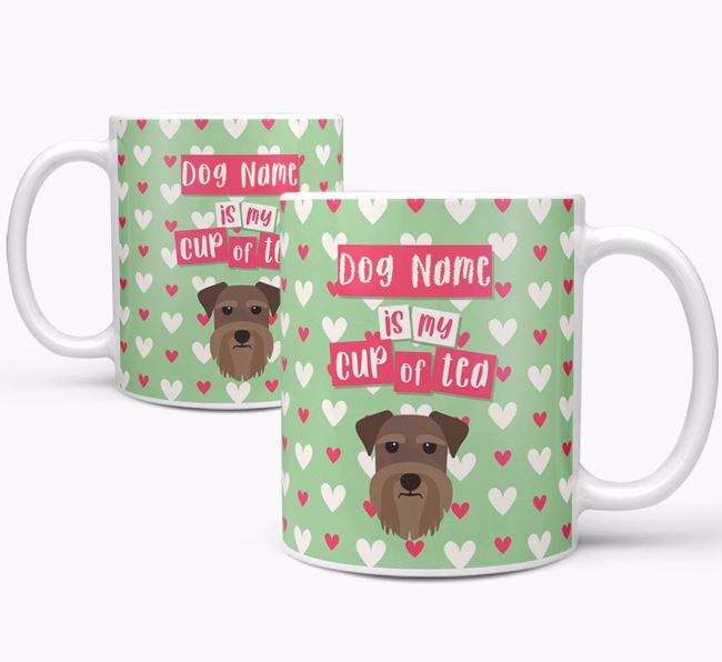 Personalised Schnauzer 'Your Dog is my Cup of Tea' Mug