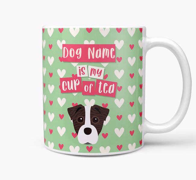 Personalised Staffy Jack 'Your Dog is my Cup of Tea' Mug