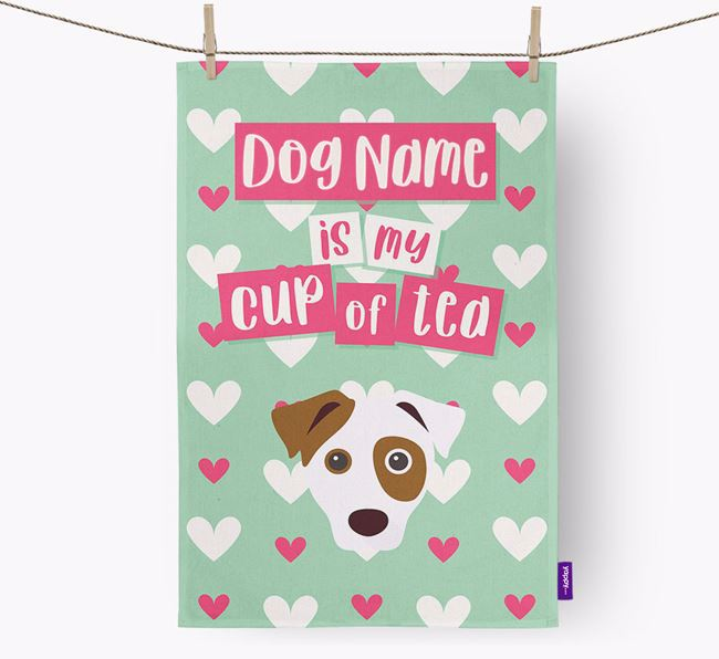 'Your Dog is my cup of tea' Tea Towel with Dog Icon