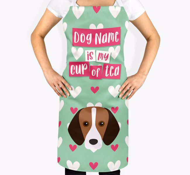 'Your Dog Is My Cup Of Tea' Apron with Foxhound Icon