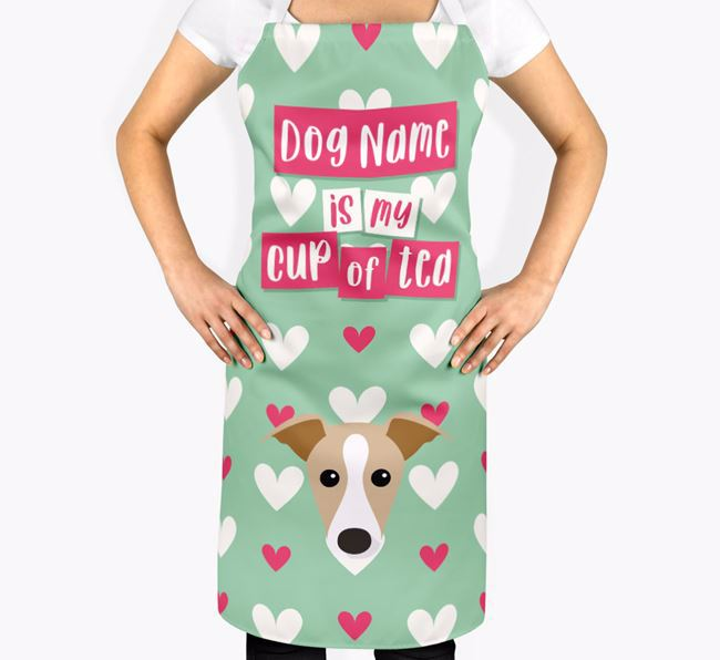 'Your Dog Is My Cup Of Tea' Apron with Dog Icon