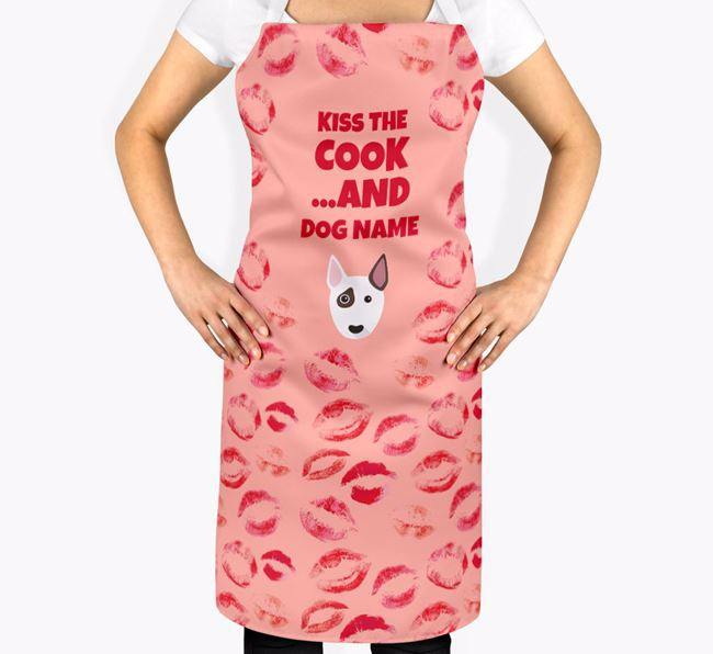 'Kiss The Cook And Your Dog' Bull Terrier Apron