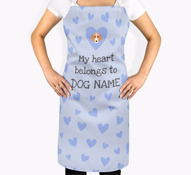 'My Heart Belongs To Your Dog' Apron with Foxhound Icon
