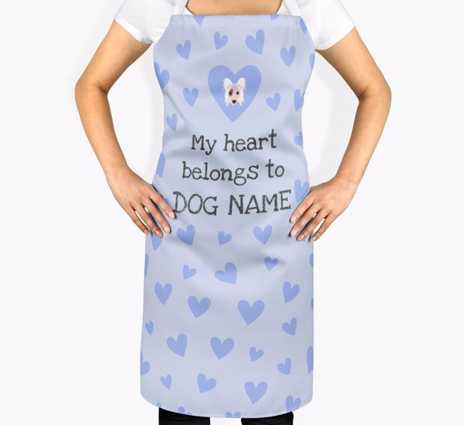 'My Heart Belongs To Your Dog' Apron with Hairless Chinese Crested Icon