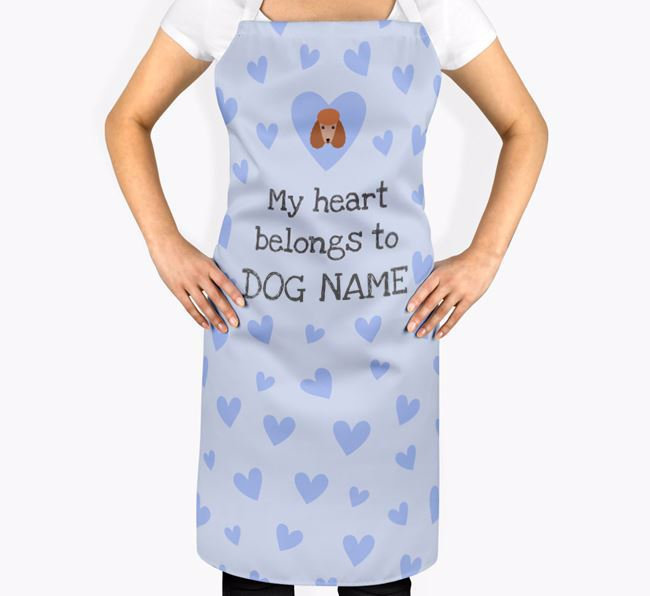 'My Heart Belongs To Your Dog' Apron with Poodle Icon