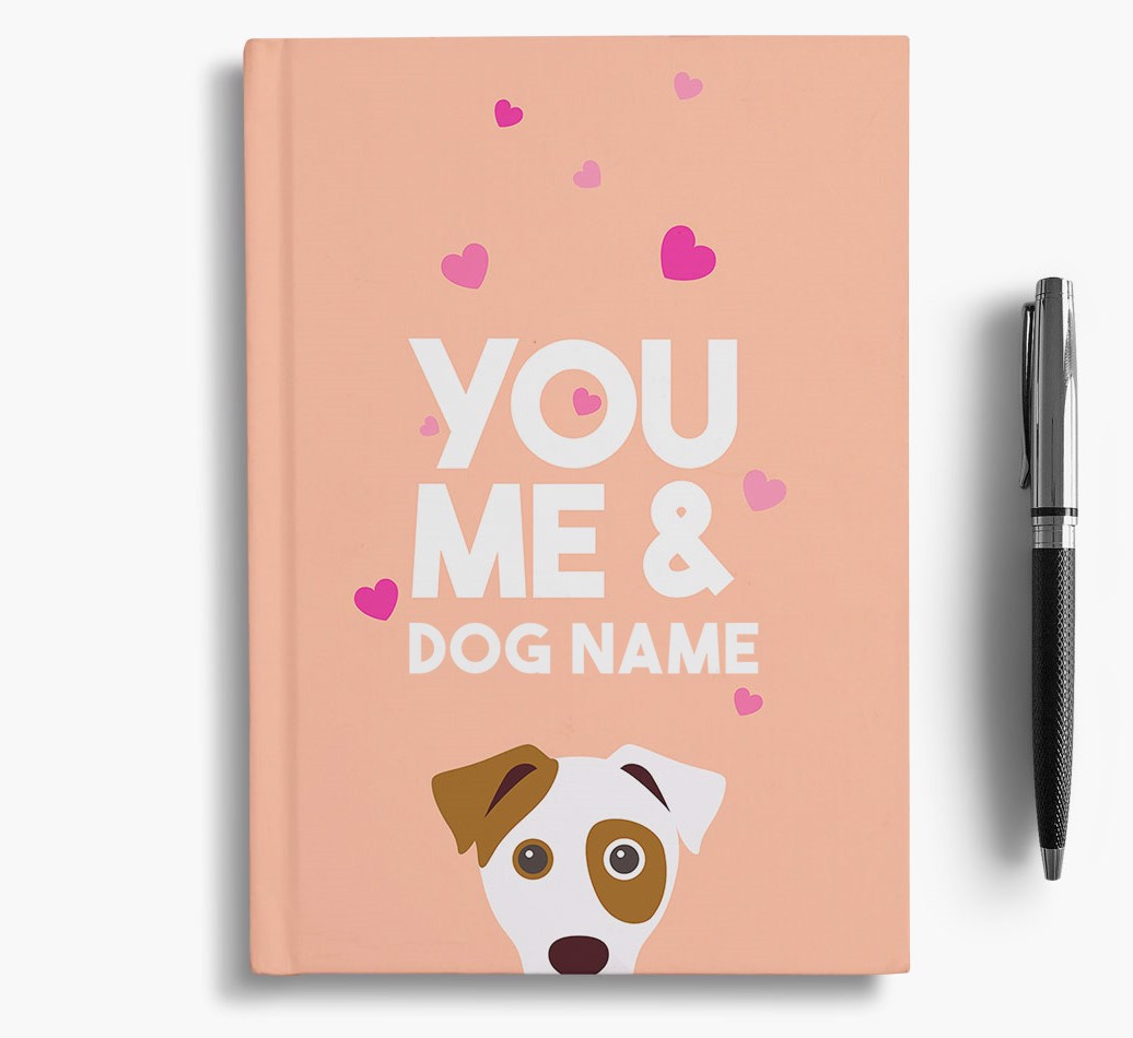Personalised 'You, Me and {dogsName}' Notebook
