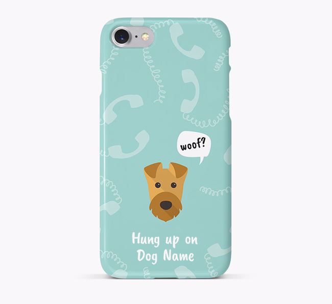 'Hung up on Your Dog' Phone Case with Airedale Terrier Icon