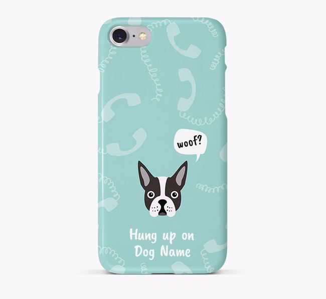 'Hung up on Your Dog' Phone Case with Dog Icon