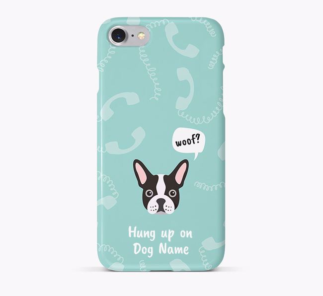 'Hung up on Your Dog' Phone Case with French Bulldog Icon