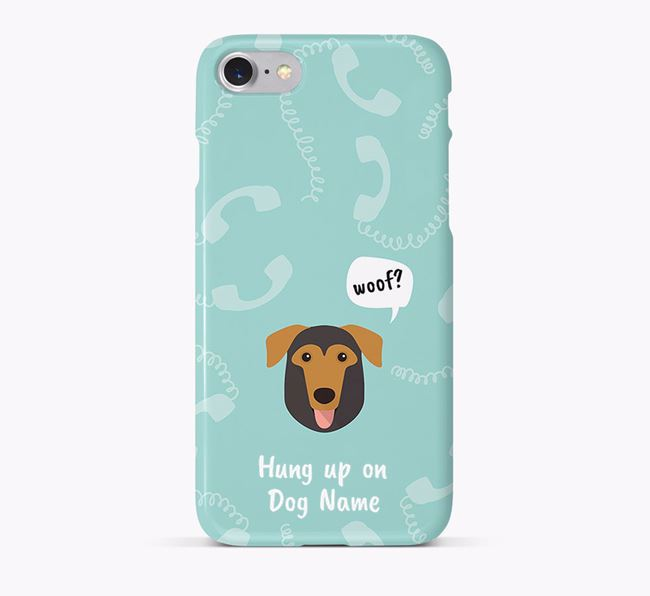 'Hung up on Your Dog' Phone Case with German Sheprador Icon