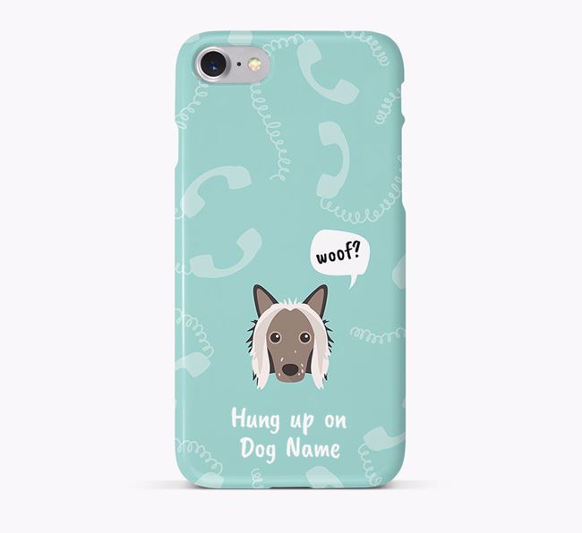 'Hung up on Your Dog' Phone Case with Hairless Chinese Crested Icon