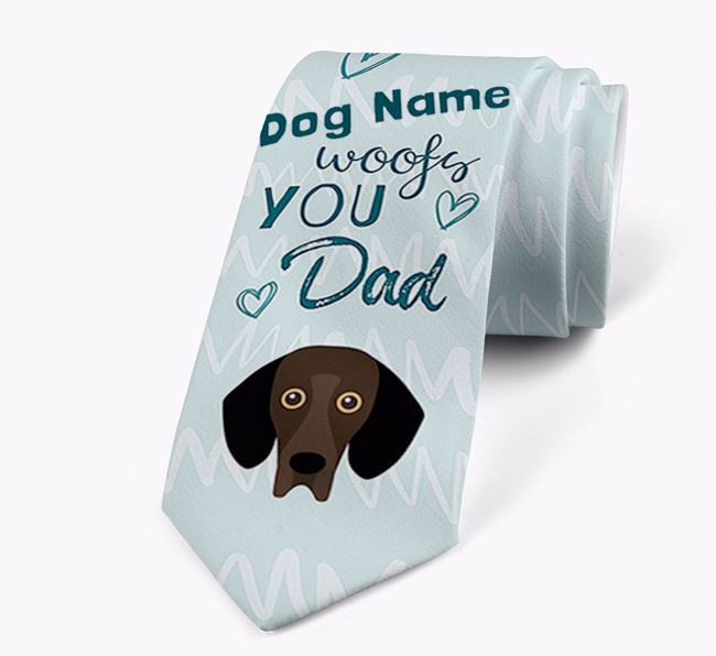 'Your Dog woofs you Dad' Neck Tie with Bassador Icon