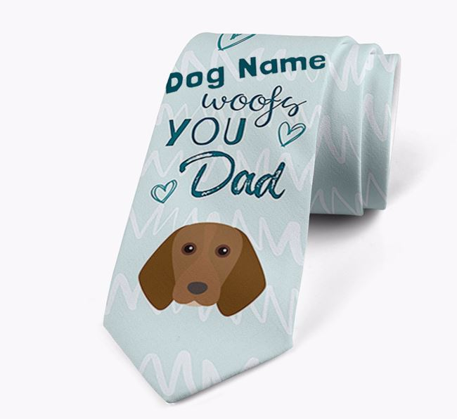 'Your Dog woofs you Dad' Neck Tie with Beagle Icon