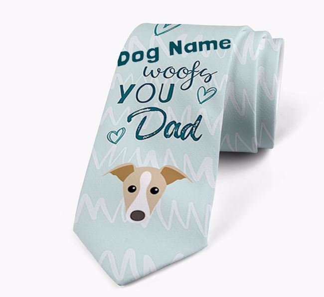 'Your Dog woofs you Dad' Neck Tie with Dog Icon