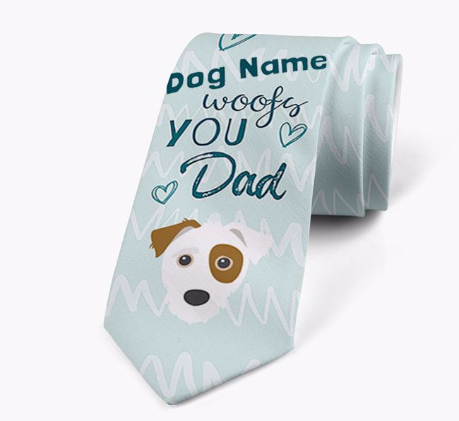 'Your Dog woofs you Dad' Neck Tie with Jack-A-Poo Icon