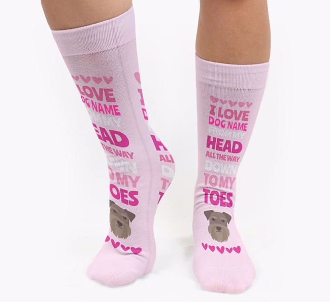 Personalised 'Head to Toes' Socks with Schnauzer Icon