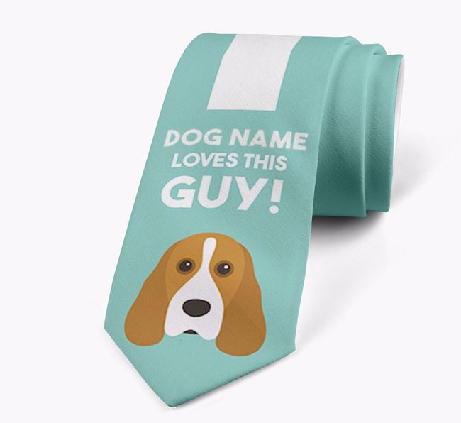 'Your Dog loves this guy!' Neck Tie with Cocker Spaniel Icon